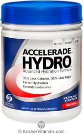 Pacific Health Kosher Accelerade Hydro Hydration Sports Drink Dairy Fruit Punch Flavor 1.76 LB