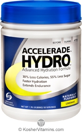 Pacific Health Kosher Accelerade Hydro Hydration Sports Drink Dairy Lemonade Flavor 1.76 LB