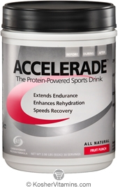 Pacific Health Kosher Accelerade Protein-Powered Sports Drink Dairy Fruit Punch Flavor 2.06 LB