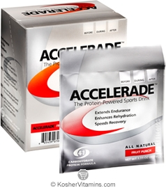 Pacific Health Kosher Accelerade Protein-Powered Sports Drink Dairy Fruit Punch Flavor 1 Packet