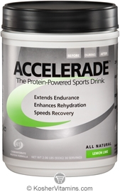 Pacific Health Kosher Accelerade Protein-Powered Sports Drink Dairy Lemon Lime Flavor 2.06 LB