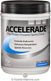 Pacific Health Kosher Accelerade Protein-Powered Sports Drink Dairy Mountin Berry Flavor 2.06 LB