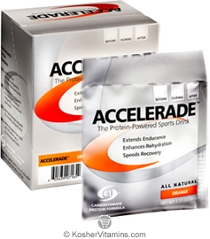 Pacific Health Kosher Accelerade Protein-Powered Sports Drink Dairy Orange Flavor 1 Packet