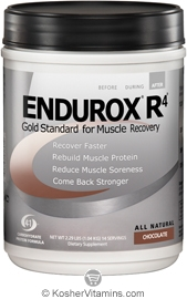 Pacific Health Kosher Endurox R4 Muscle Recovery Drink Dairy Chocolate Flavor 2.31 LB