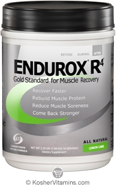 Pacific Health Kosher Endurox R4 Muscle Recovery Drink Dairy Lemon Lime Flavor 2.31 LB