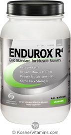 Pacific Health Kosher Endurox R4 Muscle Recovery Drink Dairy Lemon Lime Flavor 4.63 LB