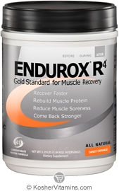 Pacific Health Kosher Endurox R4 Muscle Recovery Drink Dairy Tangy Orange Flavor 2.31 LB