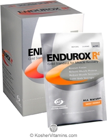 Pacific Health Kosher Endurox R4 Muscle Recovery Drink Dairy Tangy Orange Flavor 6 Packets