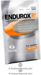 Pacific Health Kosher Endurox R4 Muscle Recovery Drink Dairy Tangy Orange Flavor 1 Packet