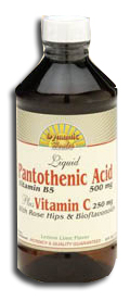 Dynamic Health Kosher Pantothenic Acid Plus Vitamin C 8 Oz.