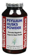 Yerba Prima Psyllium Husks Powder Vegetarian Suitable Not Certified Kosher 12 Oz.