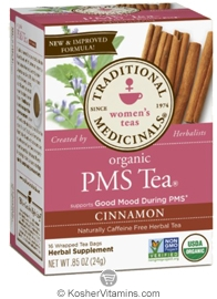 Traditional Medicinals Kosher Women's PMS Tea Cinnamon Caffeine Free 16 Tea Bags