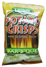 Landau Kosher Potato Crisps Baked Bar-B-Que 3.5 Oz.