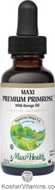 Maxi Health Kosher Maxi Premium Primrose with Borage Oil 2 OZ