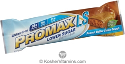 Promax Kosher Lower Sugar Energy Bar Peanut Butter Cookie Dough Dairy 12 Bars