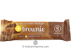 Genisoy Kosher Protein Bar Chocolate Fudge Brownie Dairy 12 Bars