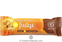 Genisoy Kosher Protein Bar Peanut Butter Fudge Dairy 12 Bars