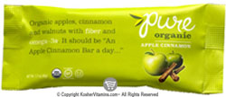 Pure Bar Kosher Pure Organic Raw Bar Apple Cinnamon Dairy 12 Bars
