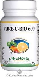Maxi Health Kosher Pure-C-Bio Vitamin C 600 Mg 180 Tablets