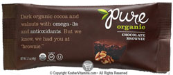 Pure Bar Kosher Pure Organic Raw Bar Chocolate Brownie Dairy 12 Bars