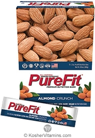 PureFit Kosher Nutrition Bar Almond Crunch Parve 15 Bars
