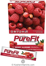 PureFit Kosher Nutrition Bar Berry Almond Crunch Parve 15 Bars
