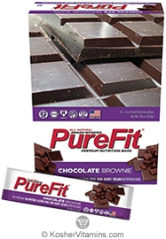 PureFit Kosher Nutrition Bar Chocolate Brownie Parve 15 Bars