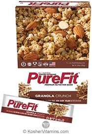 PureFit Kosher Nutrition Bar Granola Crunch Parve 15 Bars