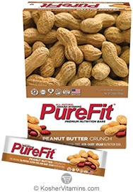 PureFit Kosher Nutrition Bar Peanut Butter Crunch Parve 15 Bars