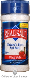 Redmond Kosher Real Salt Nature's First Sea Salt Fine Salt Shaker 10 OZ