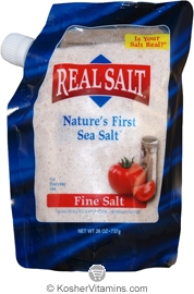 Redmond Kosher Real Salt Nature's First Sea Salt Fine Salt Pouch 26 OZ