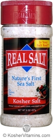 Redmond Real Salt Nature's First Sea Salt Kosher Salt Shaker 8 OZ