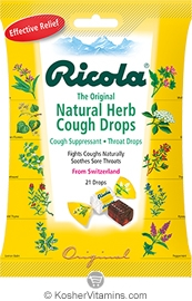 Ricola Kosher The Original Cough Suppressant Throat Drops Natural Herb 1 Bag
