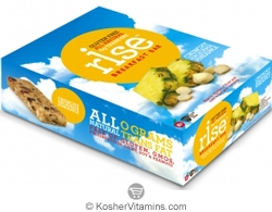 Rise Kosher Breakfast Bar Crunchy Macadamia Pineapple Dairy 12 Bars