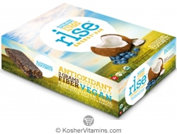 Rise Kosher Energy+ Bar Blueberry Coconut Dairy 12 Bars