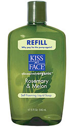 Kiss My Face Self Foaming Liquid Soap Refill Rosemary And Melon 17.5 OZ