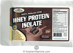 Integrated Supplements Kosher 100% Natural CFM Whey Protein Isolate Powder Rich Dutch Chocolate Dairy 1 Packet