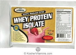 Integrated Supplements Kosher 100% Natural CFM Whey Protein Isolate Powder Strawberry Banana Dairy 1 Packet