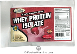 Integrated Supplements Kosher 100% Natural CFM Whey Protein Isolate Powder Wild Strawberry Dairy 1 Packet