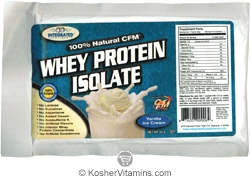 Integrated Supplements Kosher 100% Natural CFM Whey Protein Isolate Powder Vanilla Ice Cream Dairy 1 Packet