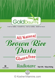 Goldbaum's Kosher All Natural Brown Rice Pasta Radiotare Gluten Free 16 OZ