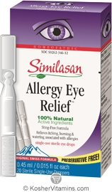 Similasan Allergy Eye Relief Single-Use 20 Pack