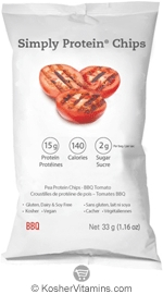 SimplyChoices Kosher Simply Protein Chips BBQ Flavor 12 Bags