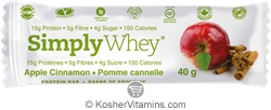SimplyChoices Kosher Simply Whey Protein Bar Apple Cinnamon Dairy 12 Bars