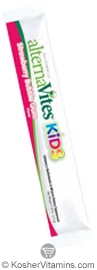 AlternaVites Kosher Kids Quick-Melting MultiVitamin & Mineral Crystals Strawberry Bubble Gum Flavor - Free with a $49 Purchase 1 Packet