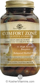 Solgar Kosher Comfort Zone Digestive Complex - Free with a $49 Purchase 1 Pack