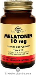 Solgar Kosher Melatonin 10 Mg 60 Tablets