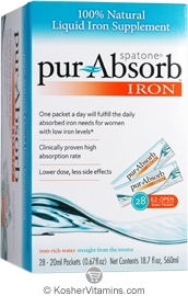 Spatone Kosher Pur-Absorb Iron Liquid 28 Packets