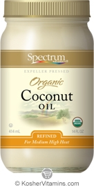 Spectrum Kosher Organic Expeller Pressed Coconut Oil Refined 14 OZ