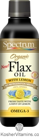 Spectrum Kosher Organic Flax Oil Lemon 8 OZ